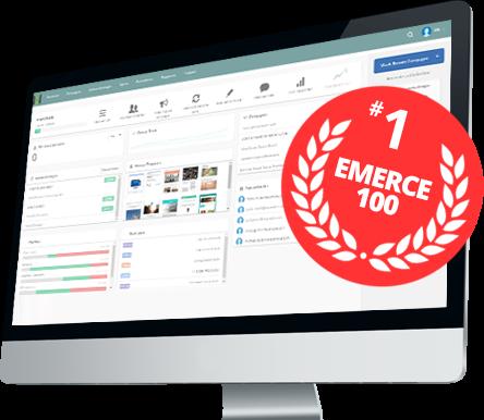 iMac voorbeeld van de mailing software van Mark-i